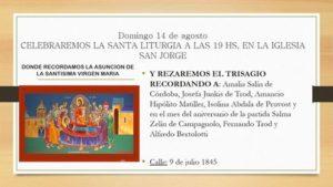 Domingo 14 agosto Santa Liturgia Iglesia San Jorge