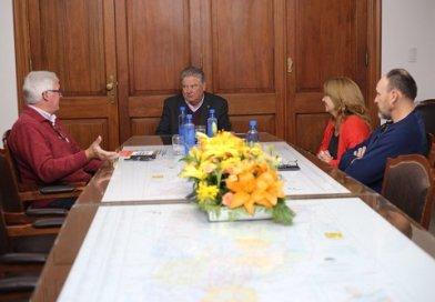 Carlos Fascendini recibió en sus oficinas a Rubén Fladung de Unión Alemana Humboldt