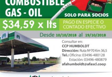 AFA HUMBOLDT ofrece mejoras en precios de combustibles