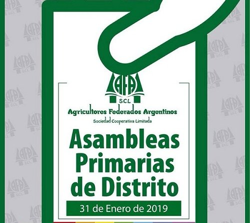 31/1/2019 AFA SCL – Agricultores Federados Argentinos SCL .Asambleas Primarias de Distrito 2019