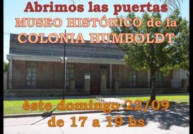 Museo de la Colonia Humboldt domingo22 Sep abre sus puertas al publico de 17 a 19 hs