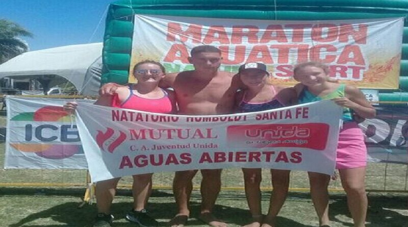 Nadadores del Club Juv Unida de Humboldt subieron al podio en Miramar (Córdoba)