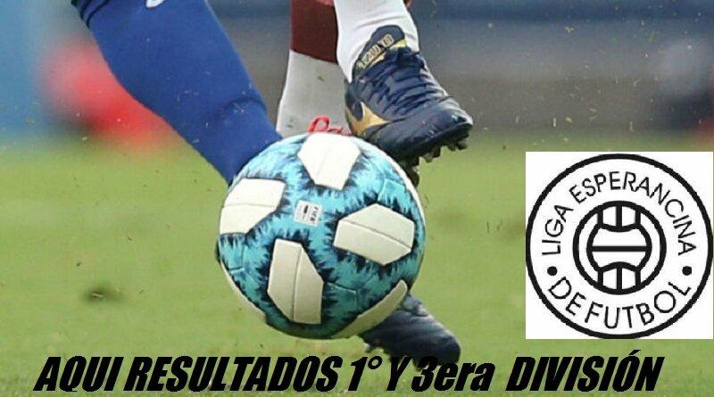 Encuentre aquí resultados 3era y 1° Div Fecha 3 Liga Esperancina de Fútbol Domingo 18/4/2021