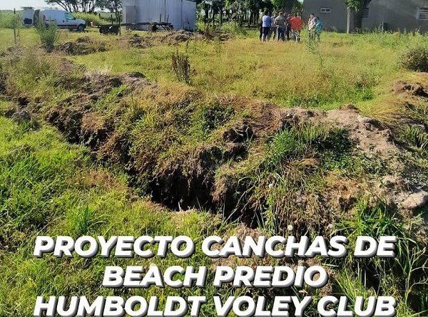 En Humboldt se comienza a trabajar en el predio Humboldt Voley Club construcción de las futuras canchas